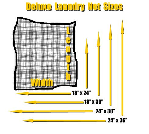 Deluxe Laundry Net Sizes